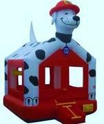 7-Fire-Dog-Bounce-House-14x14