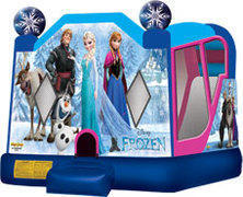 42-Frozen-Inflatable-slide-inside-4in1 Dry and wet slide
