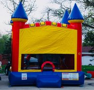 11 Red Inflatable  Castle 14x14
