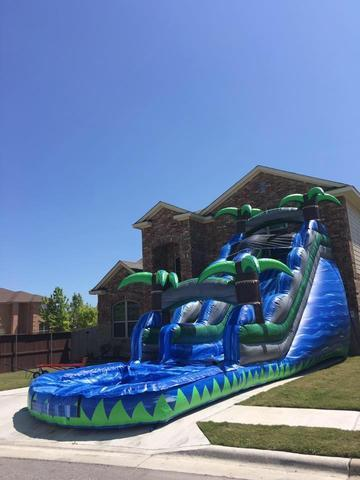 18 Ft tropical waterslide