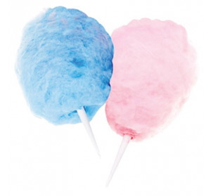 Cotton Candy Blue and Pink