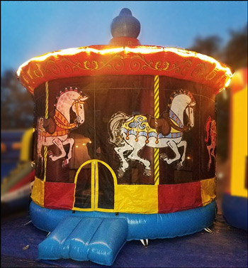 Inflatable Merry Go Round Jumper