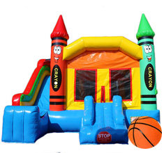 Crayola Bounce House With Slide from Party With 630