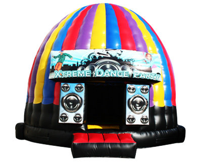 Disco Dome bounce houses rentals from Partywith630.com