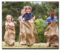 Potato Backyard Sack Race