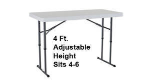 400 - 4 Ft. Adjustable Height / Kid Size Table