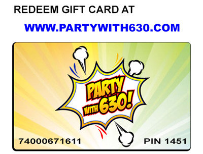 Gift Cards from Party With 630