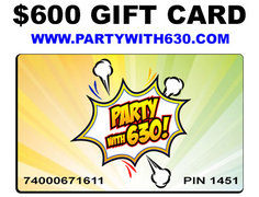 Gift Card $600 +1 Free $125 Inflatable Game