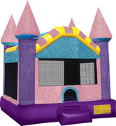"<font color=red><b>Glittery Castle<br></font><small>Best for ages 2+<br><font color=""blue"">Size 14 W x 15 D x 16 H </font>"