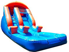 <font color=red><b>Small Blue Water Slide w/Pool</font><small><br>Best for ages 2-10<br><font color=blue>Space Needed 24 D x 13 W x 14 H