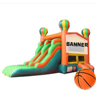 163 - Balloons Themeable Deluxe<br>Dual Lane | 15 D X 26 W X 14 H