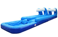 <font color=red><b>Dual Lane Slip and Slide<br></font>Best for ages 4+<br><font color=blue>Space Needed 33 D x 10 W x 7 H