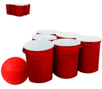 <font color=red><b>Giant Pong<br></font><small>Best for ages 3+<br><font color=blue>12 Giant Red Cups (Trash Can Size) and 2 Balls</font>