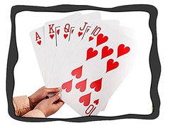 <font color=red><b>Giant Playing Cards</b></font><br><b><small>Comes w/Table and 4 Chairs