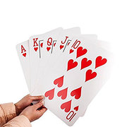 <font color=red><b>Giant Playing Cards</b></font><br><b><small>Comes w/Table and chairs</B>