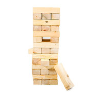 <font color=red><b>Giant Jenga</font><small><br>Best for ages 3+<br>Real wood blocks<br>