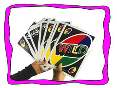 <font color=red><b>Giant Uno</b></font><br><b><small>Comes w/Table and 4 Chairs