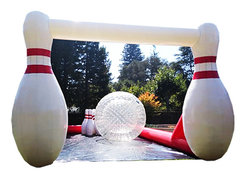292 - Human Bowling<br><small><b>1 Zorb And 40 Ft Track</b></small>