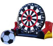<font color=red><b>Giant Soccer Darts</font><small><br>Best for ages 4+<br>Space Needed 7 W x 5 D x 9 H