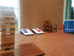 [Party Package] Giant Jenga, Corn Hole, Bubbles Machine and Giant Connect 4