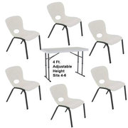 421 - Kids Table & 6 Chairs