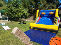 [Party Package] Cornhole, Double Shot Basketball and Giant Jenga