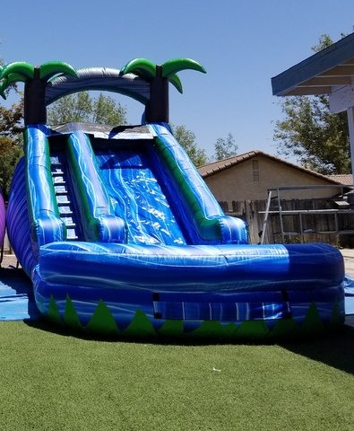 14 ft. blue rapids water slide