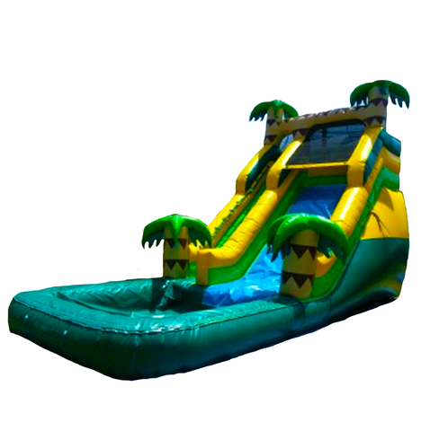 16 ft. tropical waterslide