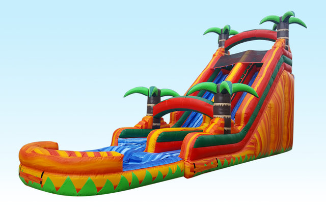 18 ft. Fire water slide
