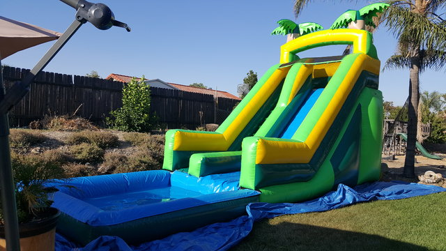 16 ft tropical waterslide wet/dry