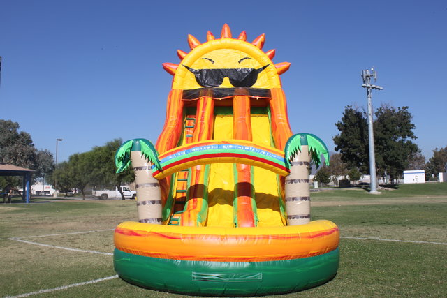 22 ft. Paradise Sunshine Double Lane Slide Dry