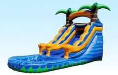 13 ft. Orange Tropical Paradise water slide
