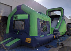 18 ft. jungle slide with bouncer