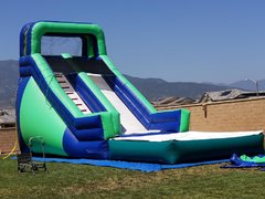 18 ft. jungle slide with pool