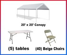 "<h4><span style=""color: #3366ff;"">Canopy Party Package #1</spa></h4"