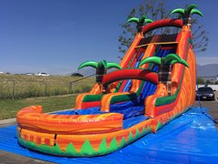 22 ft. Fire water slide