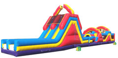70 foot Monster Obstacle Course with Dual Slide