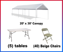 "<h4><span style=""color: #3366ff;"">Canopy Party package #2</spa></h4"