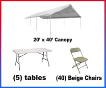 "<h4><span style=""color: #3366ff;"">Canopy Party Package #3</spa></h4"