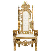 King Throne Chair (white)