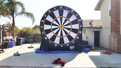 Soccer dart inflatable