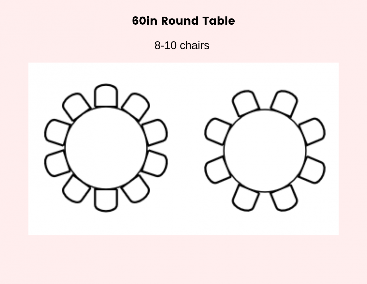60 Round Table For Rent