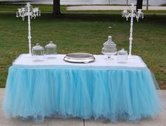 Light Blue Tulle Tableskirt