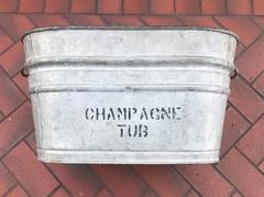 Weathered Metal Champagne Ice Tub