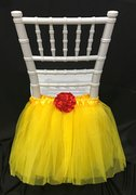 Yellow Kid's Chair Tulle Decoration
