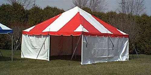 20 x 20 Red White Pole Tent
