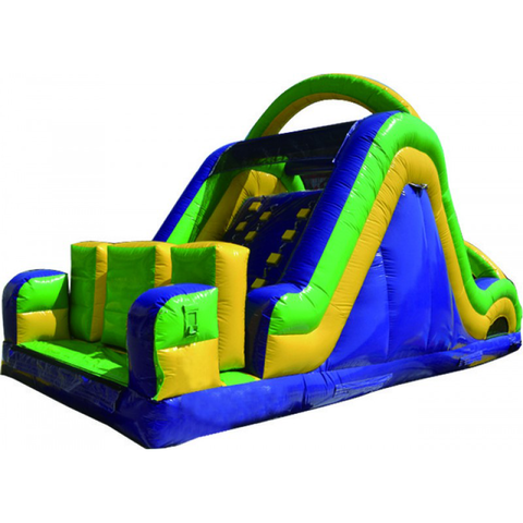 30' Wacky Slide Obstacle Course Interactive Inflatable