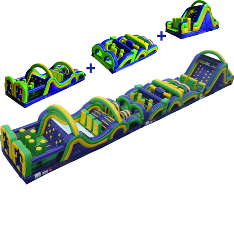 95' Wacky Obstacle Course Interactive Inflatable