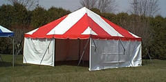 16 x 16 Red White Pole Tent