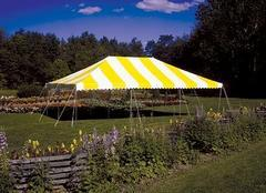 16 x 16 Yellow White Pole Tent